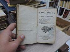 Antoine Arnauld la logique ou l'art de penser 1750 Guillaume Desprez