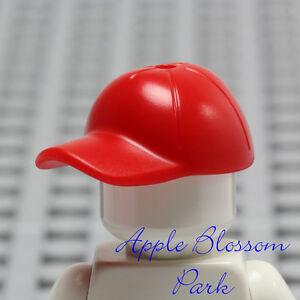 NEW Lego Minifig RED BASEBALL CAP - Boy Girl Minifigure Sports Hat Head Gear