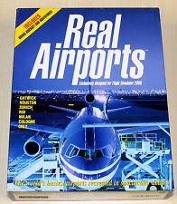 Real Airports FS Microsoft Flight Simulator 2000 -- GIOCO PC-come nuovo! megarar