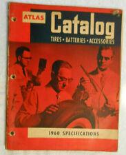 Vintage Old Rare Original 1960 Atlas Tires Batteries Accessories Parts Catalog