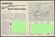 1981 WINCHESTER Model 37 SHOTGUN Exploded View..Parts List..Assembly Article