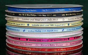 7mm Personalised Printed Satin Ribbon Wedding Favour Box Christening