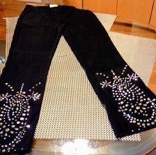 Cache Vintage Black Ultra-Suede Studded Pants W Size 10