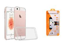 iPhone 5 5S SE Handyhülle Silikon Transparent Hülle Case + PANZER GLAS FOLIE