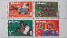 Zwitserland - Veldeel van 4 Philswiss club zegels (4)