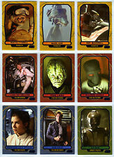 Topps Star Wars Galactic Files 2 - 9 Blue Parallel Cards Characters Leia Luke