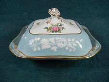 Copeland Spode Old Colony Rose Y6447 Square Covered Serving Bowl with Lid