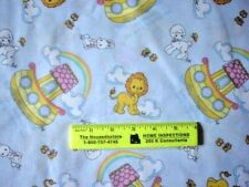 PRECIOUS MOMENTS ABC BLKS TEDDY BEARS STS COTTON FLANNEL FABRIC 14 Inch End Cut