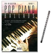 Pop Piano Ballads Band 1 - mit 2CDs, MusikBleistift - EH3711 - 9783866260306