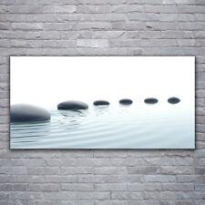 Glasbilder Wandbild Druck auf Glas 120x60 Steine Wasser Kunst