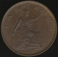 1927 George V Farthing Coin | British Coins | Pennies2Pounds