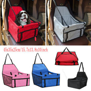 Pet Dog Cat Folding Car Seat Safe Travel Mesh Carrier Bag Kennel Puppy Handbag