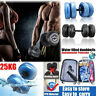 Hand Weights Dumbbells 1 Pair Adjustable Barbell Home Gym Set Workout Fitness