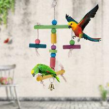 Bird Parrot Swing Toys Cockatiel Parakeet Budgie Standing Climbing Toy Wooden