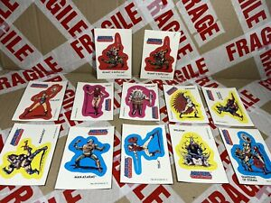 VINTAGE Topps Stickers Complete inc chase set! He Man Motu  Rare Trading 80s