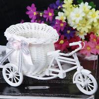 1x Weiß Dreirad Fahrrad Blumenkinder Blumenkorb Blumendekor Hochzeit Blumen Korb