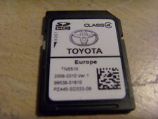 GENUINE TOYOTA SAT NAV NAVI NAVIGATION SD CARD 2009 / 2010  V1 EUROPE TNS510