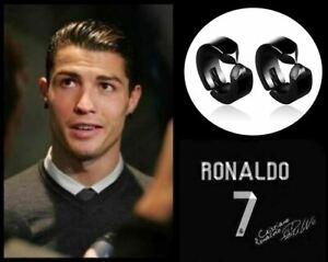 Men's/Boy's: RONALDO: Clip-On Stainless Steel, Gloss Black, Huggie/Hoop Earrings