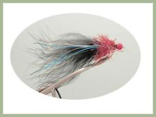 Ally McCoist Trout Flies, Lures, 6 Per Pack, Red and Black, Size 10 Fly Fishing