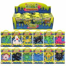 Kids Sticky Creatures 4 Birthday Party Loot Bag Fillers For Boys  Girls