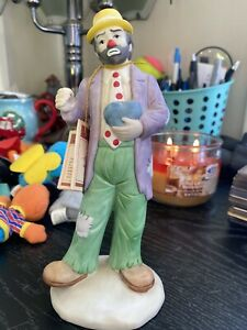 Vintage Emmett Kelly Jr Flambro Collection Clown Golf Club & Dog - Retired piece