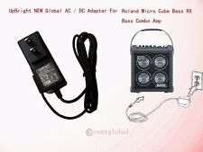 Ac Adapter For Roland Micro Cube Bass Rx Battery-Powered Bass Combo Amp Charger