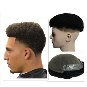 Afro curl Human Hair toupee for Men's hair piece Replacement System lace base