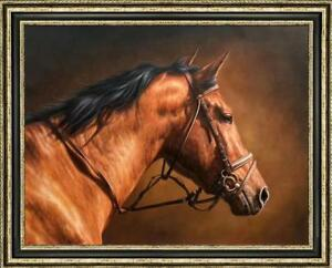 """Hand-painted Original Animals Oil painting art  horse on Canvas 30""""x40"""""""