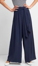 Gap Women's Wide Leg Pants With Sash Belt Size XXL- Blue- NWOT