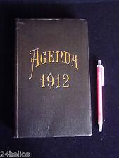AGENDA Ancien 1912 22x14cm Calendrier/Renseignements de Paris/Banquier/Notaire