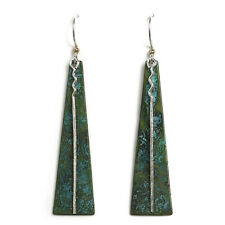 Jody Coyote Earrings JC013 Atlas Collect ATL-0715-02 Made USA turquoise silver