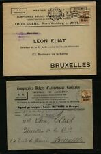 Belgium  2  ad covers    German occupation       MS0228