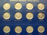 Buffalo Nickel Set Complete 64 Coins 1913-1938 w/ 1913-D 1913-S Var 2 1926-S etc