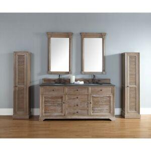 James Martin Savannah 72' double Vanity Cabinet, Driftwood - 238-104-5711