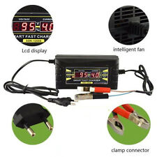 Universal 12V 6A inteligente de plomo-ácido cargador de batería Pantalla LCD