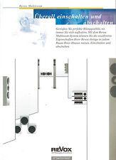 Studer ReVox Prospekt Katalog Multiroom Eception Elegance Bass V 219 209 WandFb