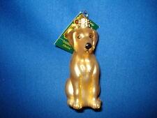 Dog Ornament Glass Yellow Lab Old World Christmas 12386 21