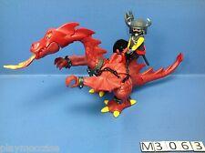 (M306.3) playmobil chevalier du dragon rouge 3327/3269