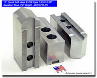 """H/&R Mfg Hard Lathe Top Jaws for 15"""" /& Up Chuck 2 Step Set of 3 HR-15 15STGRJ USA"""
