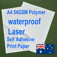 15sheets A4 54GSM Polymer Waterproof Self Adhesive Label Laser Print Paper