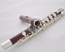 Grenadilla Rose Wooden Piccolo Flute Split E + Cleaning Rod/Kit/Case