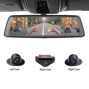 360-degree panoramic 4CH Cameras wifi car dvr backup mirror gps navi dash camera