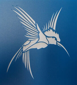 Scrapbooking - STENCILS TEMPLATES MASKS SHEET - Humming Bird 02 Stencil