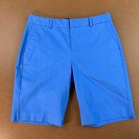"Banana Republic Womens Size 4 Blue Pique Bermuda Shorts 10"" Inseam NWT"
