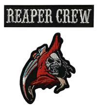 Reaper Crew Reaper Skull Patch [2PC Bundle -Iron on Sew on -RE1,2]