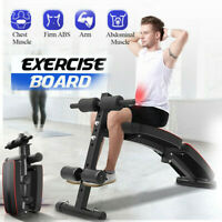 Adjustable Decline Sit up Bench AB Flat Training Crunch Board Fitness Exercise