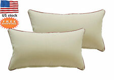 Bossima Outdoor Patio Decorative Rectangle Throw Toss  Pillows Khaki,Set of 2