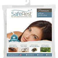 Hypoallergenic Pillow Protector Waterproof Pillowcase Bed Bug Proof Cover