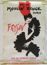 Gruau Frou Frou Moulin Rouge Original Vintage Poster Advertisement French pin-up