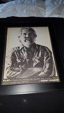 Kenny Rogers Rare Original 570 KLAC Promo Poster Ad Framed!